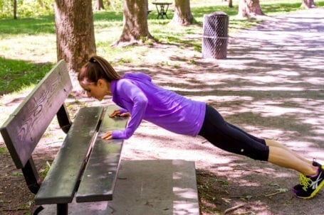pushups on bench