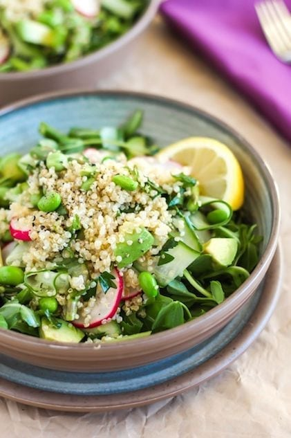 Spring Pea Quinoa Salad - Eat Spin Run Repeat