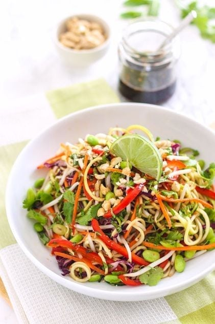 Zucchini Noodle Pad Thai - Eat Spin Run Repeat