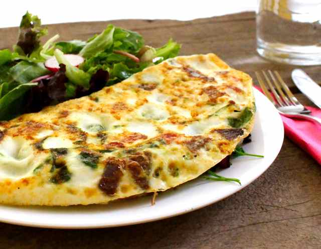 Swiss Chard and Red Onion Omelette