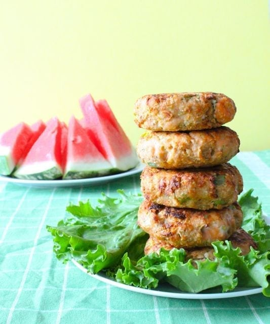 Garlic and Cucumber Salmon Patties - 2