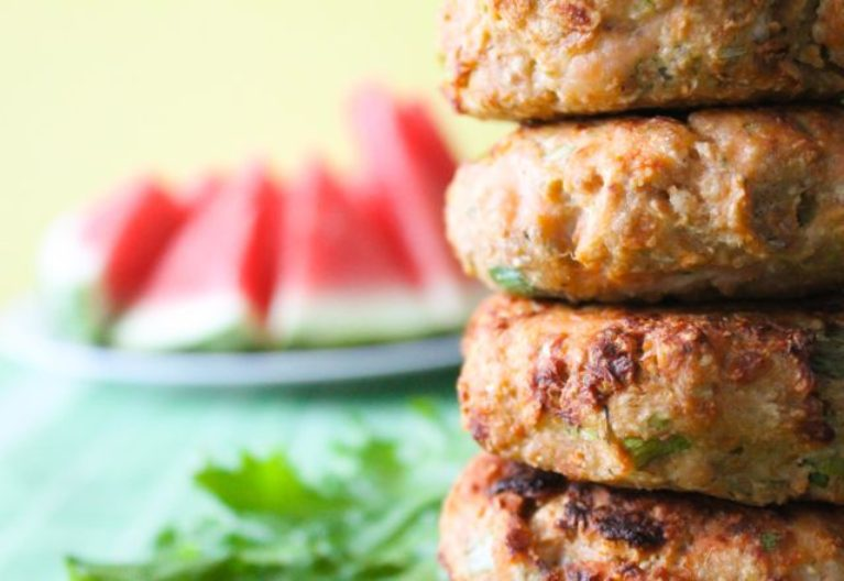 Garlic and Cucumber Salmon Patties - Close 2
