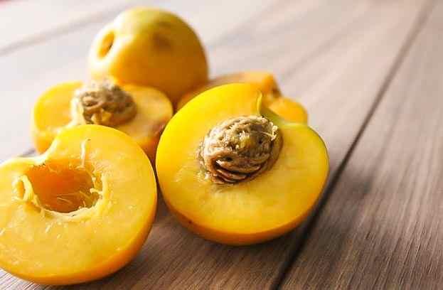 mango nectarines cut in half