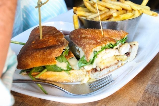 Earls at Yaletown - chicken burger with brie