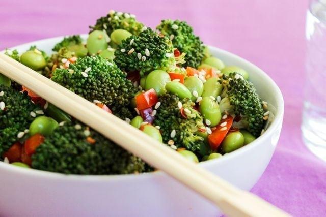 Sesame Broccoli and Edamame 3