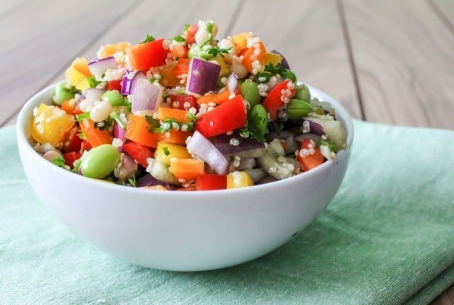 Quinoa and Rainbow Pepper Salad