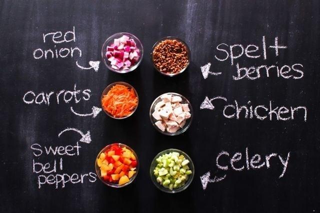 Chopped Chicken Salad Ingredients