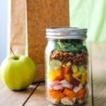 Chopped Chicken Salad To Go | A great make-ahead mason jar salad perfect for packing. #cleaneating #eatclean #salad #nutrition