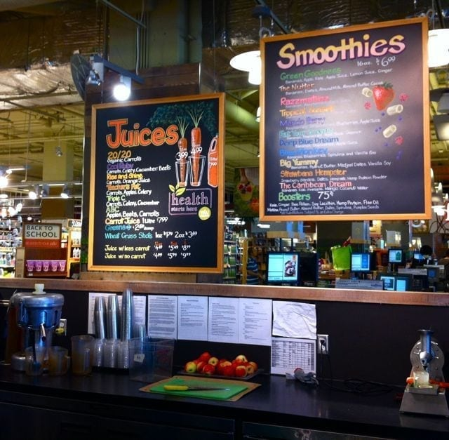 Whole foods smoothie menu for Whole food juice bar menu