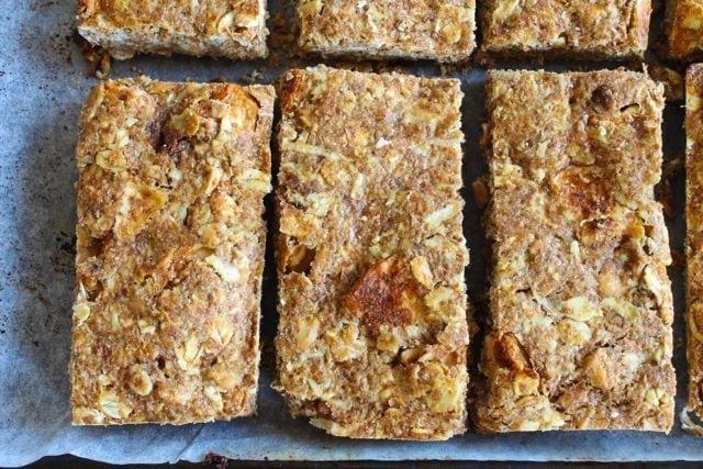 Apple Cinnamon Breakfast bars on cookie sheet 2