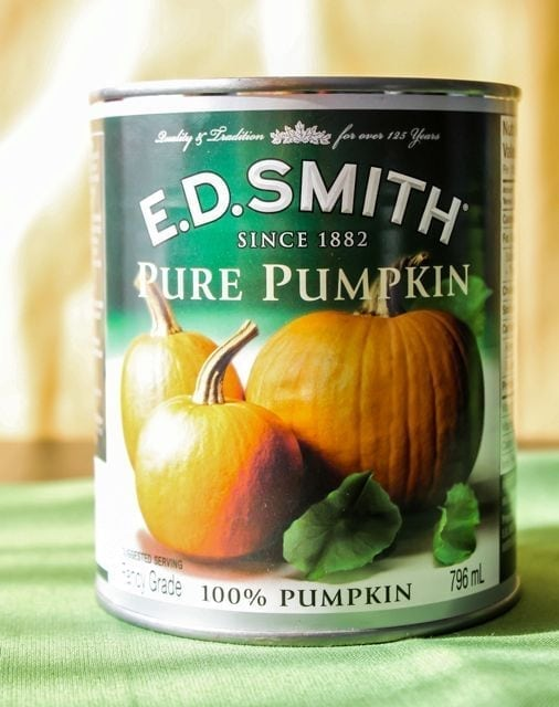Canned pureed pumpkin