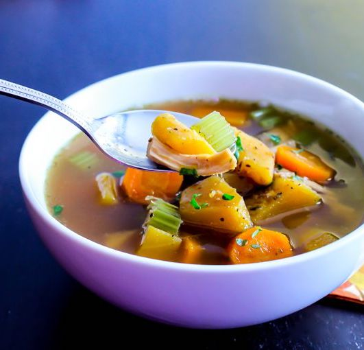Cozy Winter Squash and Turkey Soup | paleo, Whole30, gluten-free | My Fresh Perspective | #paleo #glutenfree #whole30