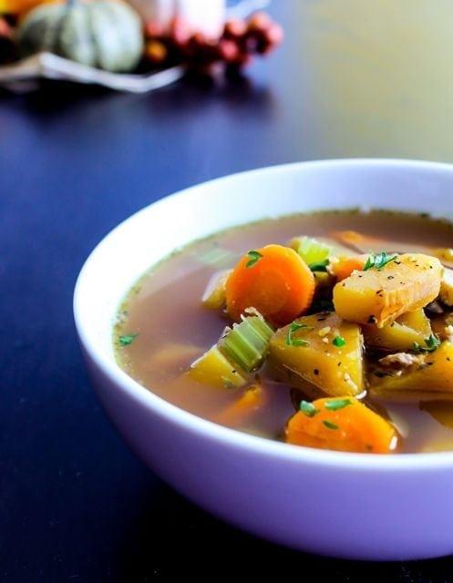 Cozy Winter Squash and Turkey Soup
