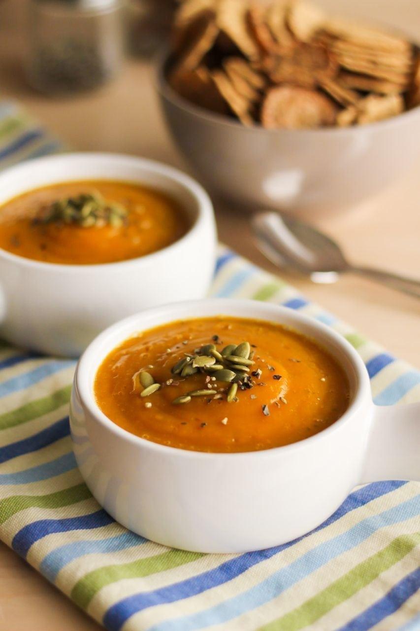 Velvet Butternut Squash and Apple Soup