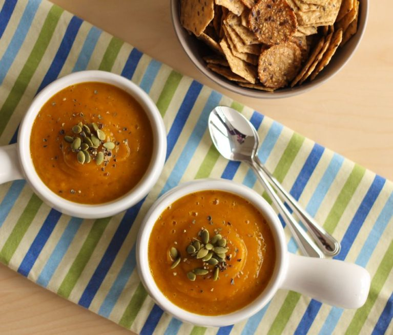 Velvet Butternut Squash and Apple Soup - Eat Spin Run Repeat