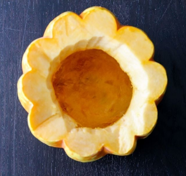 hollowed buttercup squash