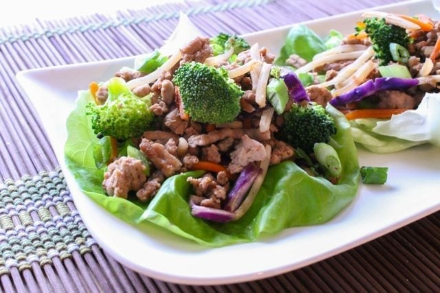 Asian Turkey Lettuce Cups from Eat Spin Run Repeat