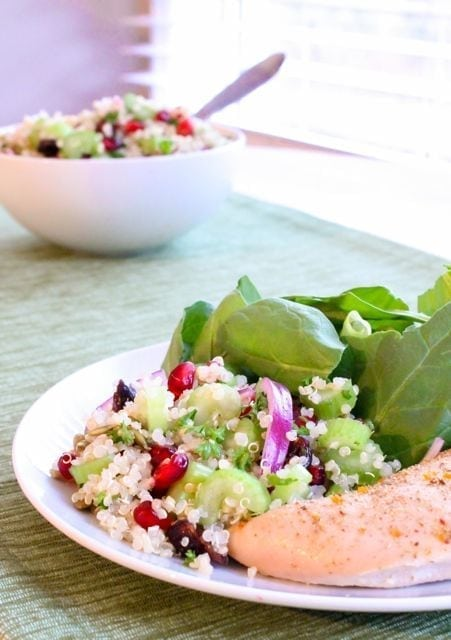 Ruby Studded Holiday Quinoa