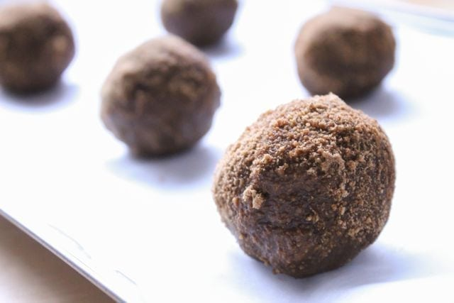 gingersnap cookie dough balls