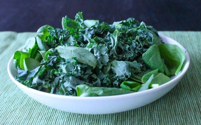 mixed kale and spinach