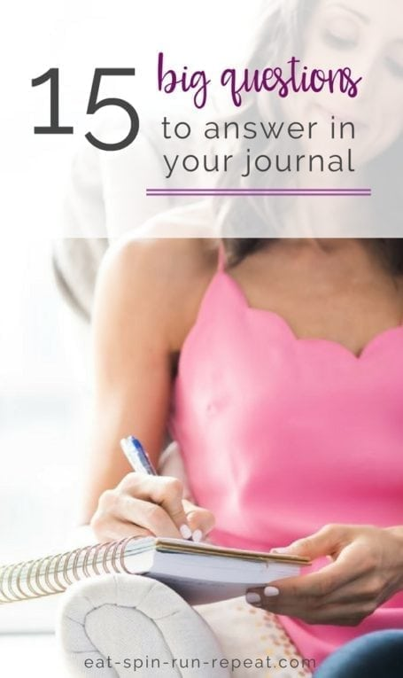 15 questions to answer in your journal || self development + goal setting || Eat Spin Run Repeat