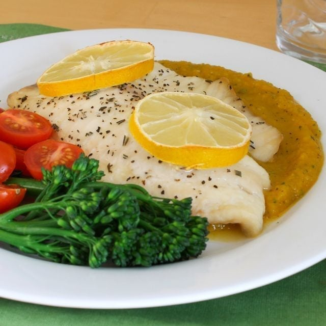 Baked Tilapia with Rosemary Butternut Squash Puree 2