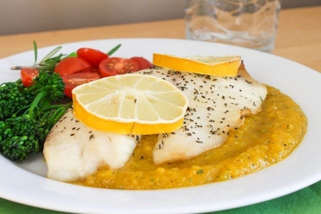 Baked Tilapia with Rosemary Butternut Squash Puree