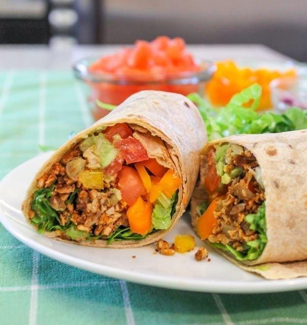 Vegan Fiesta Wraps from Eat Spin Run Repeat