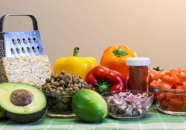 Vegan Fiesta Wraps - Ingredients