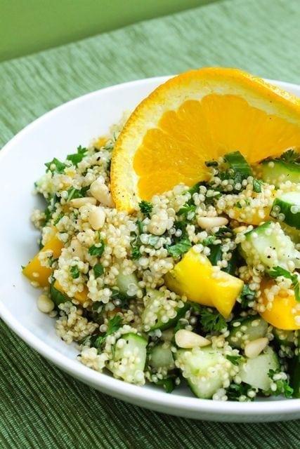 Cool Cucumber Quinoa Salad - Eat Spin Run Repeat