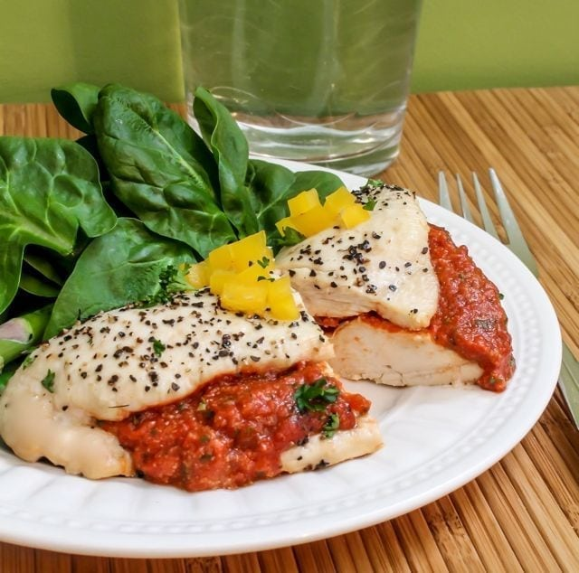 recipe: roasted red pepper chicken [33]