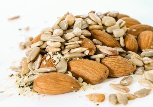 almonds sunflower seeds hemp seeds flax