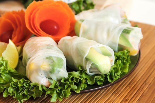 Green Curry Shrimp Rolls