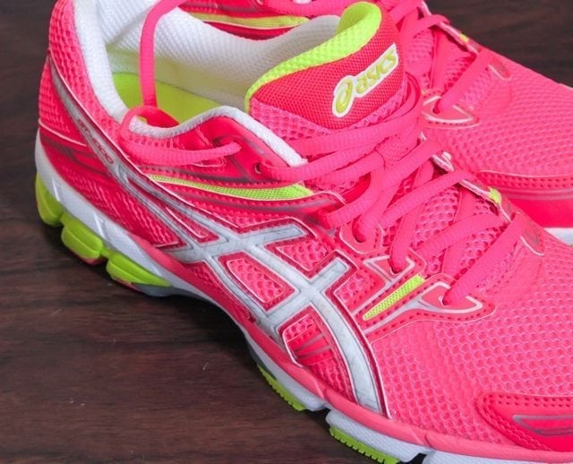asics gt-1000s in pink and lime