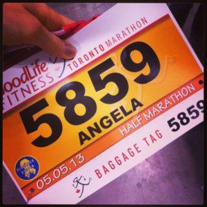 my bib for the half marathon