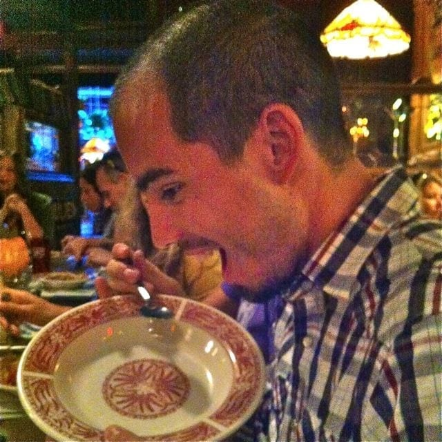 Brian showing us how he fuels up for big races! (I guess they do it differently south of the border?) ;)