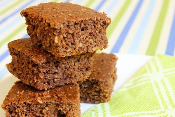 Chocolate Coconut Protein Squares - via Eat Spin Run Repeat