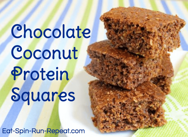 Chocolate Coconut Protein Squares - Eat Spin Run Repeat
