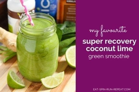 Super Recovery Coconut Lime Green Smoothie - Eat Spin Run Repeat.com