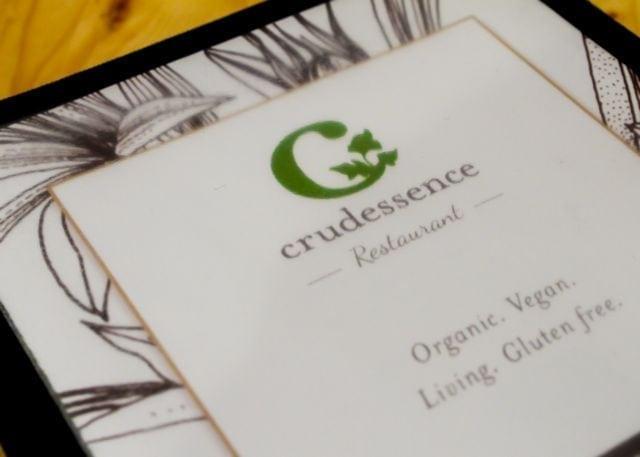 crudessence menu cover
