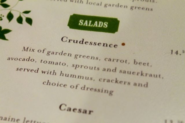 crudessence salad menu