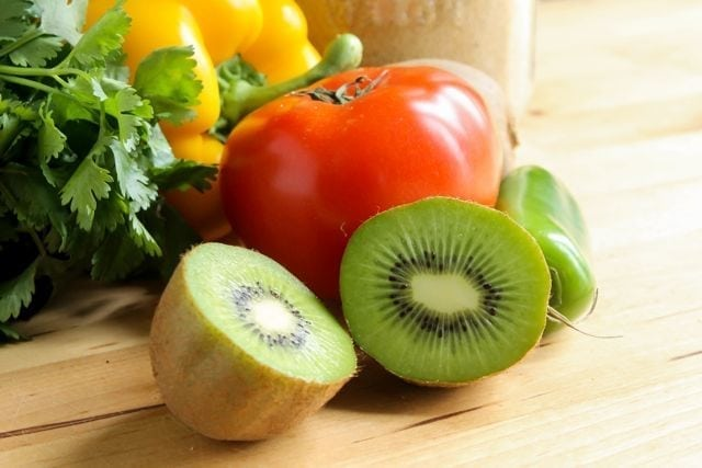 ingredients for kiwi salsa
