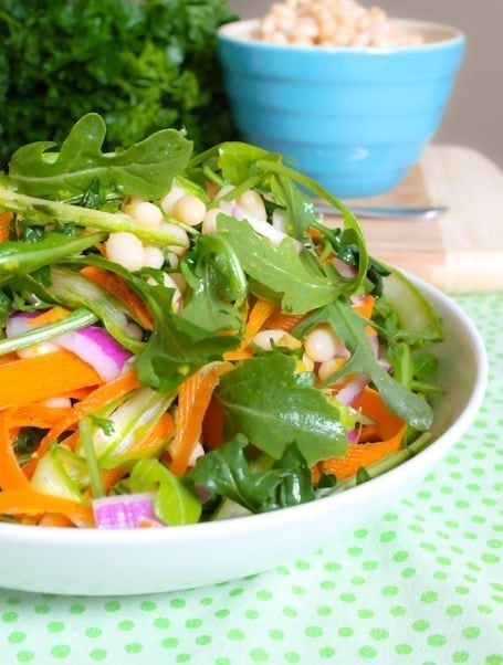 Arugula and White Bean Salad - Eat Spin Run Repeat