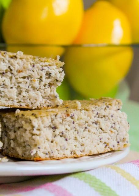 Lemon Poppyseed Protein Squares