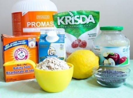 Lemon Poppyseed Protein Squares - ingredients