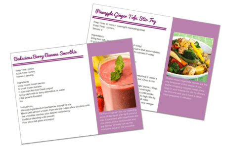 Sample Recipe Pages