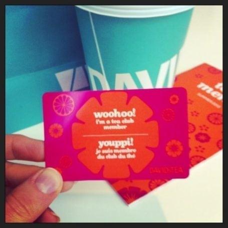 david's tea club card
