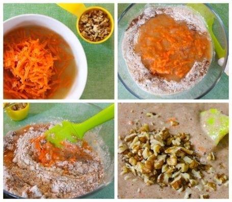 Batter for Carrot Cake Mini Muffins