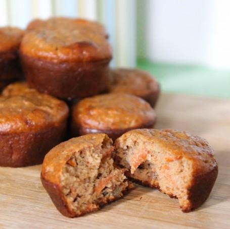 Eat Clean Carrot Cake Mini Muffins - Eat Spin Run Repeat