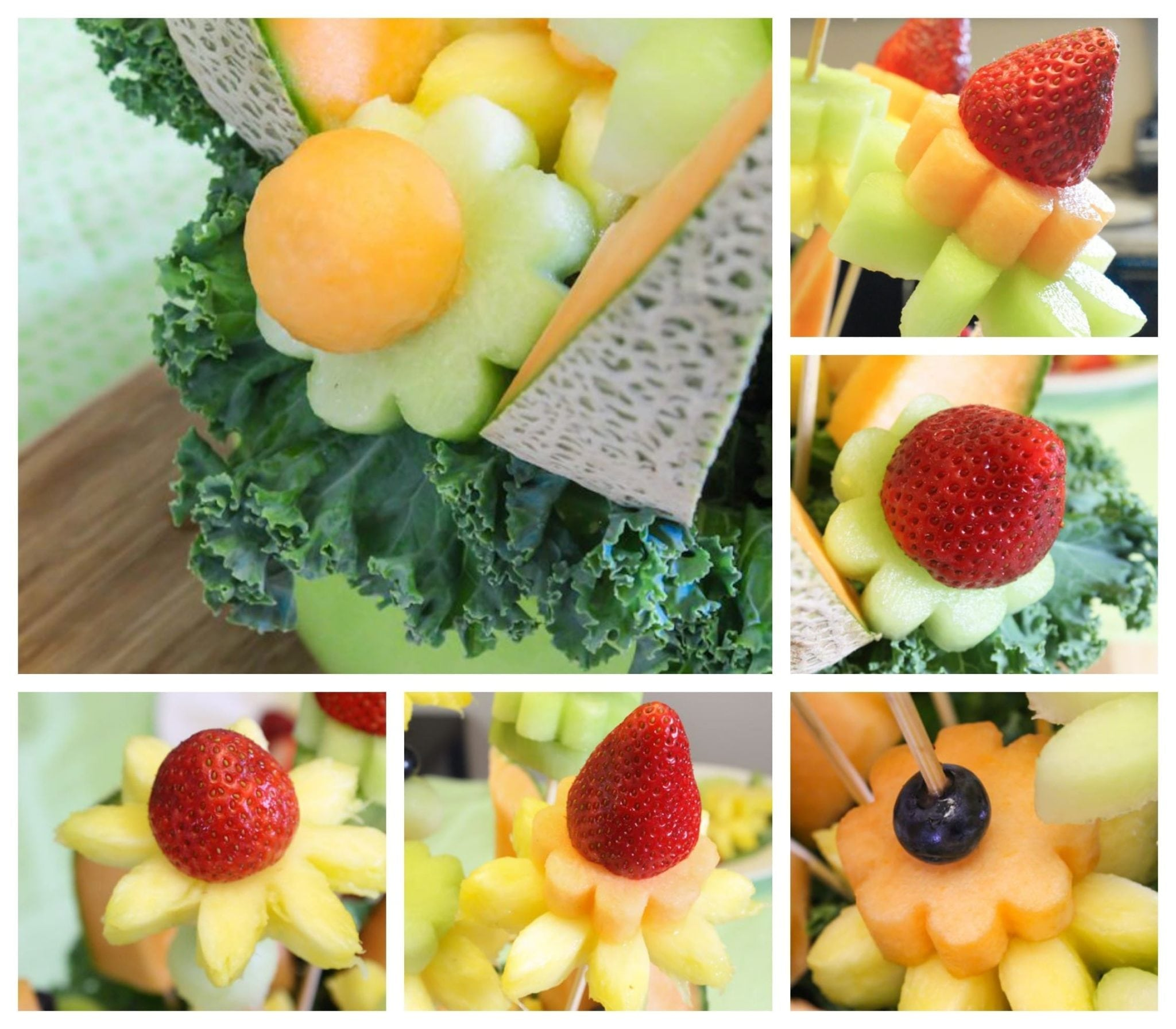 Vegetable carving step by step procedure - Eat Spin Run Repeat Fruit Bouquet 1